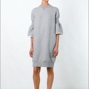 Size M Grey Bell Sleeve Sacai Sweatdress